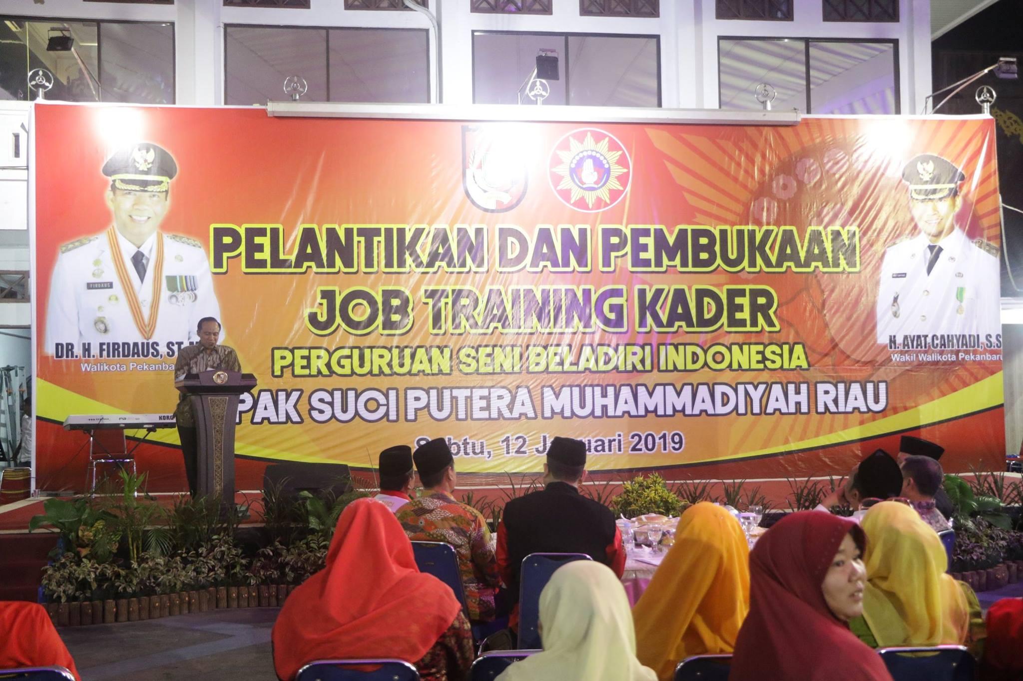 Pelantikan dan Pembukaan Job Training Kader Perguran Seni Beladiri Indonesia