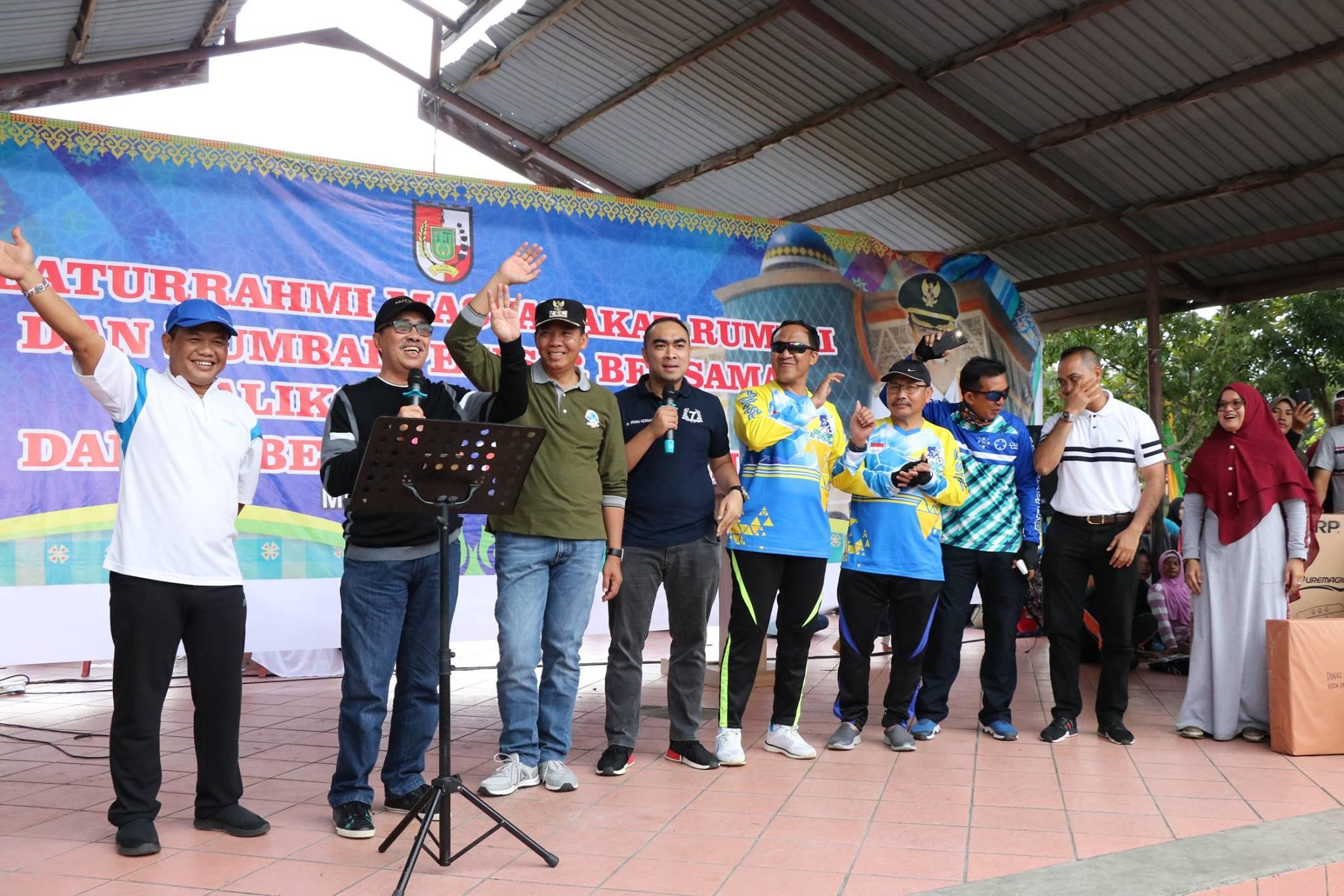Silaturahmi masyarakat Rumbai dan Rumbai Pesisir bersama Walikota Pekanbaru dan Gubernur Riau Terpil