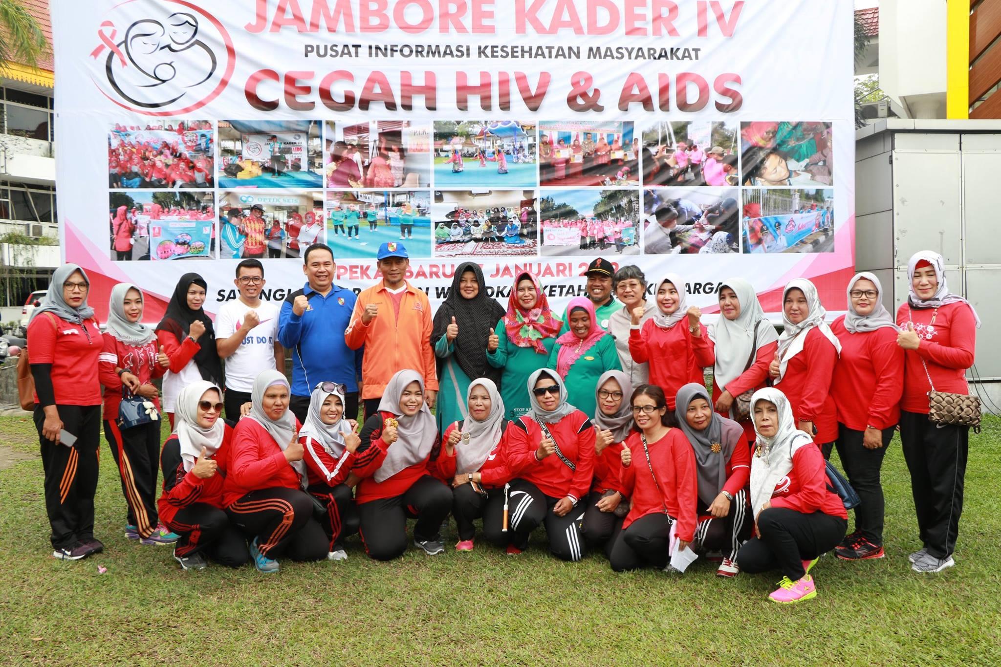 Wakil Walikota Pekanbaru Ayat Cahyadi Membuka Kegiatan Jambore Kader PIKM IV HIV & AIDS Tingkat Kota
