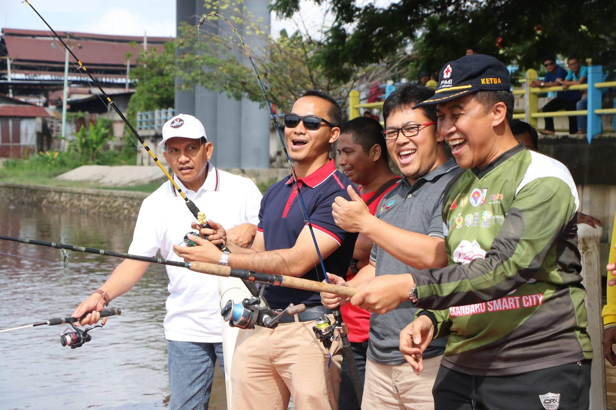 Acara Mancing Gembira Kecamatan Rumbai Pesisir