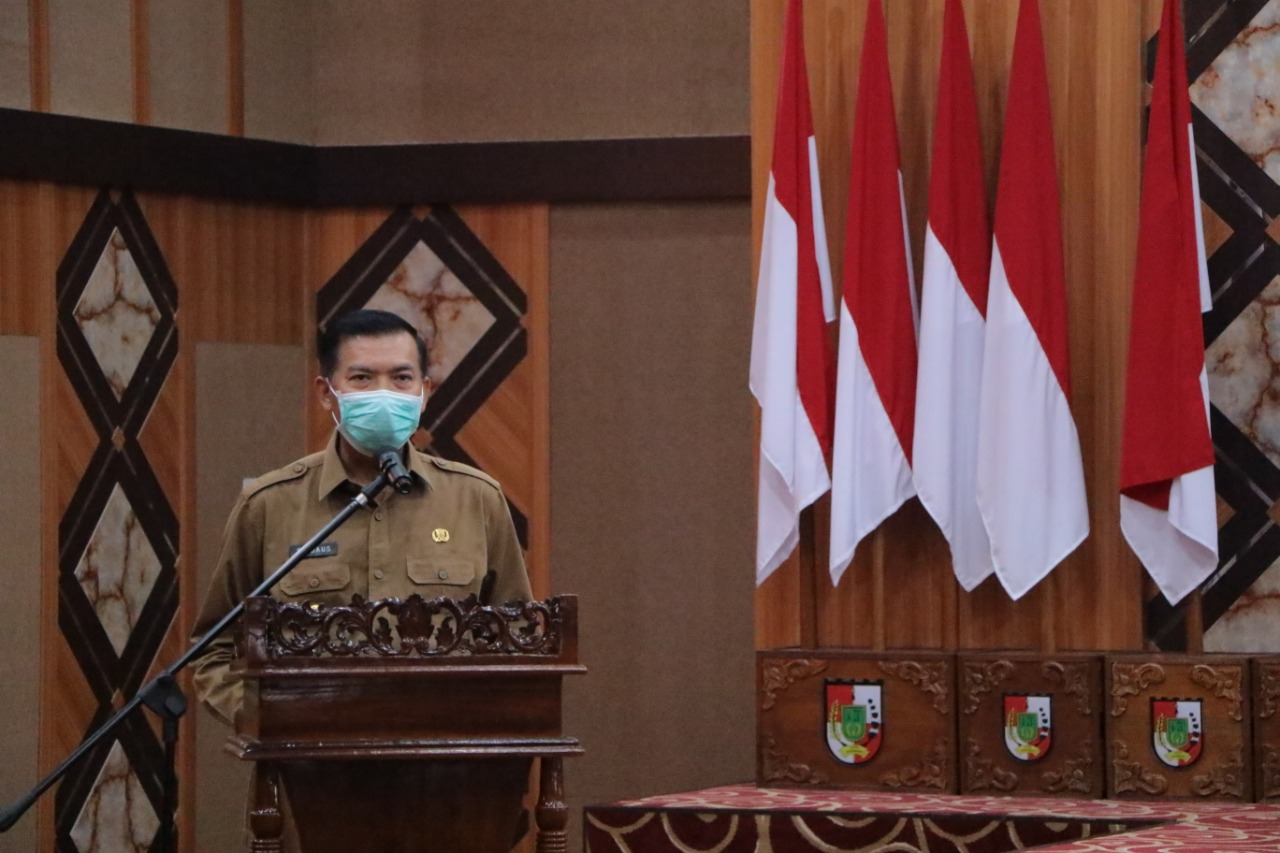 Walikota Pekanbaru memberi Arahan.