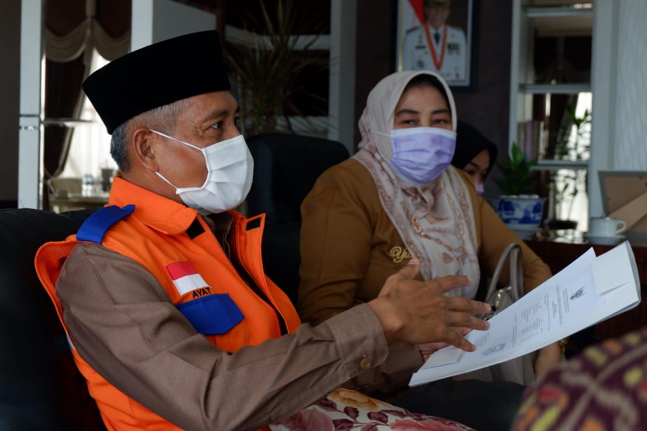 Wakil Walikota Memberikan Arahan dan Keterangan kepada jajaran dan BPK RI.