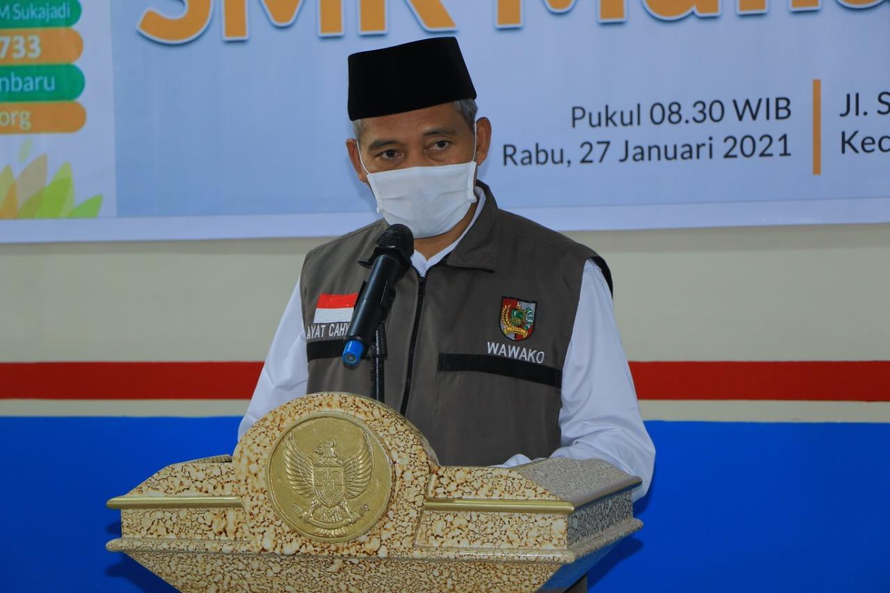 Wakil Walikota memberi Arahan dan sambutan