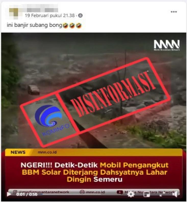 [DISINFORMASI] Video Detik-detik Banjir Bandang di Subang