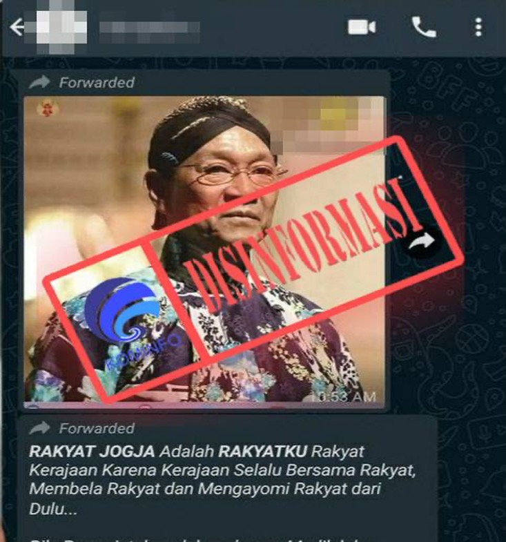 [DISINFORMASI] Pernyataan Gubernur DIY Kecam Jokowi Soal Mudik