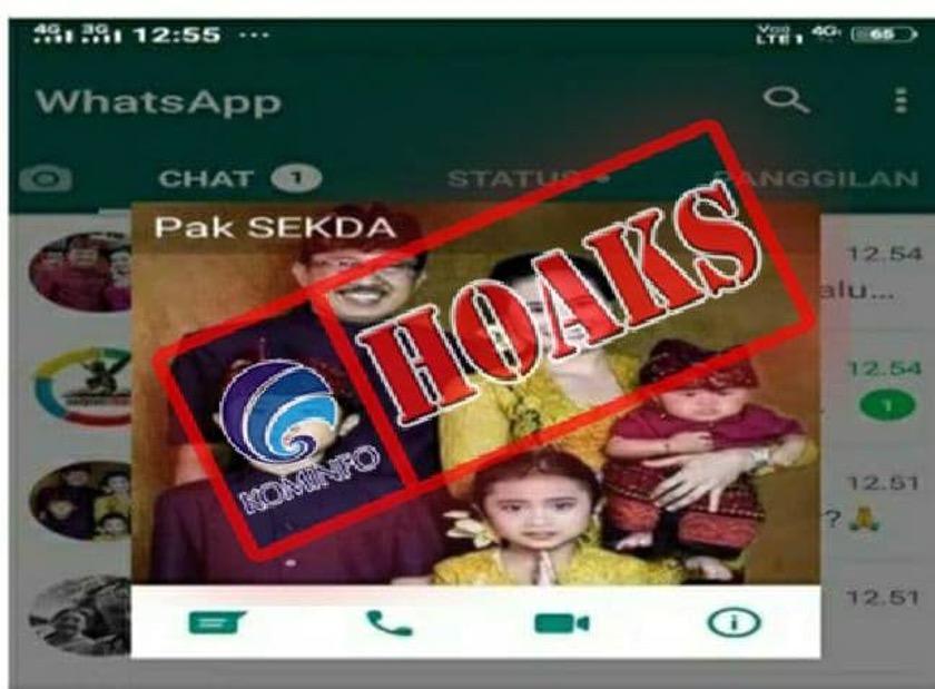 [HOAKS] Akun WhatsApp Mengatasnamakan Sekretaris Kabupaten (Sekkab) Buleleng