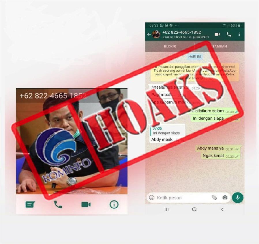 [HOAKS] Pesan WhatsApp Mengatasnamakan Anggota DPRD Jabar Abdy Yuhana