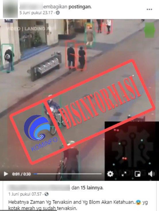 [DISINFORMASI] Kamera Pendeteksi Vaksin Covid-19 Ditemukan