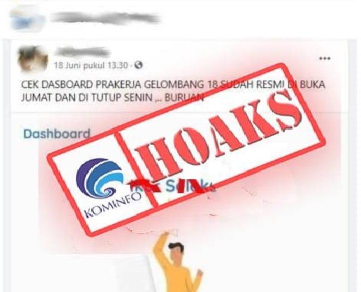 [HOAKS] Pendaftaran Kartu Prakerja Gelombang 18 Resmi Dibuka Hari Jumat dan Ditutup Senin
