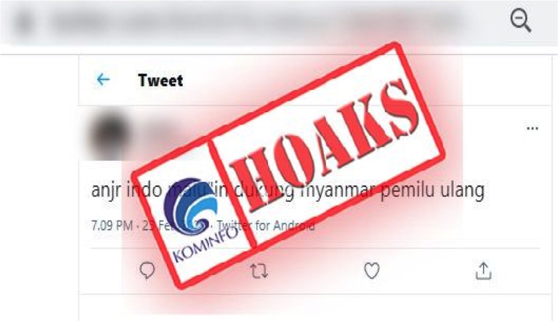 [HOAKS] Indonesia Dukung Pemilu Ulang di Myanmar