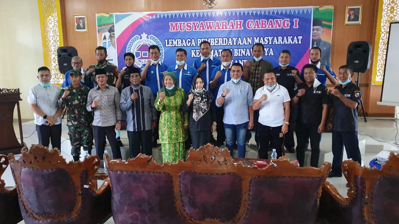 Camat Binawidya Hadiri Pemilihan Ketua LPM Kecamatan