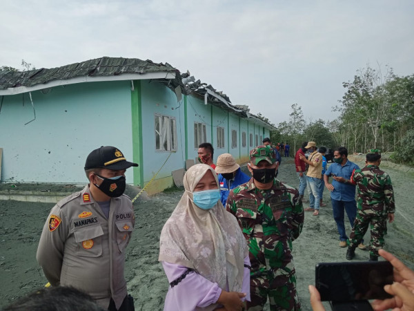 Camat Tenayan Raya Imbau Masyarakat Tak Dekati Semburan Gas di Area Pondok Pesantren