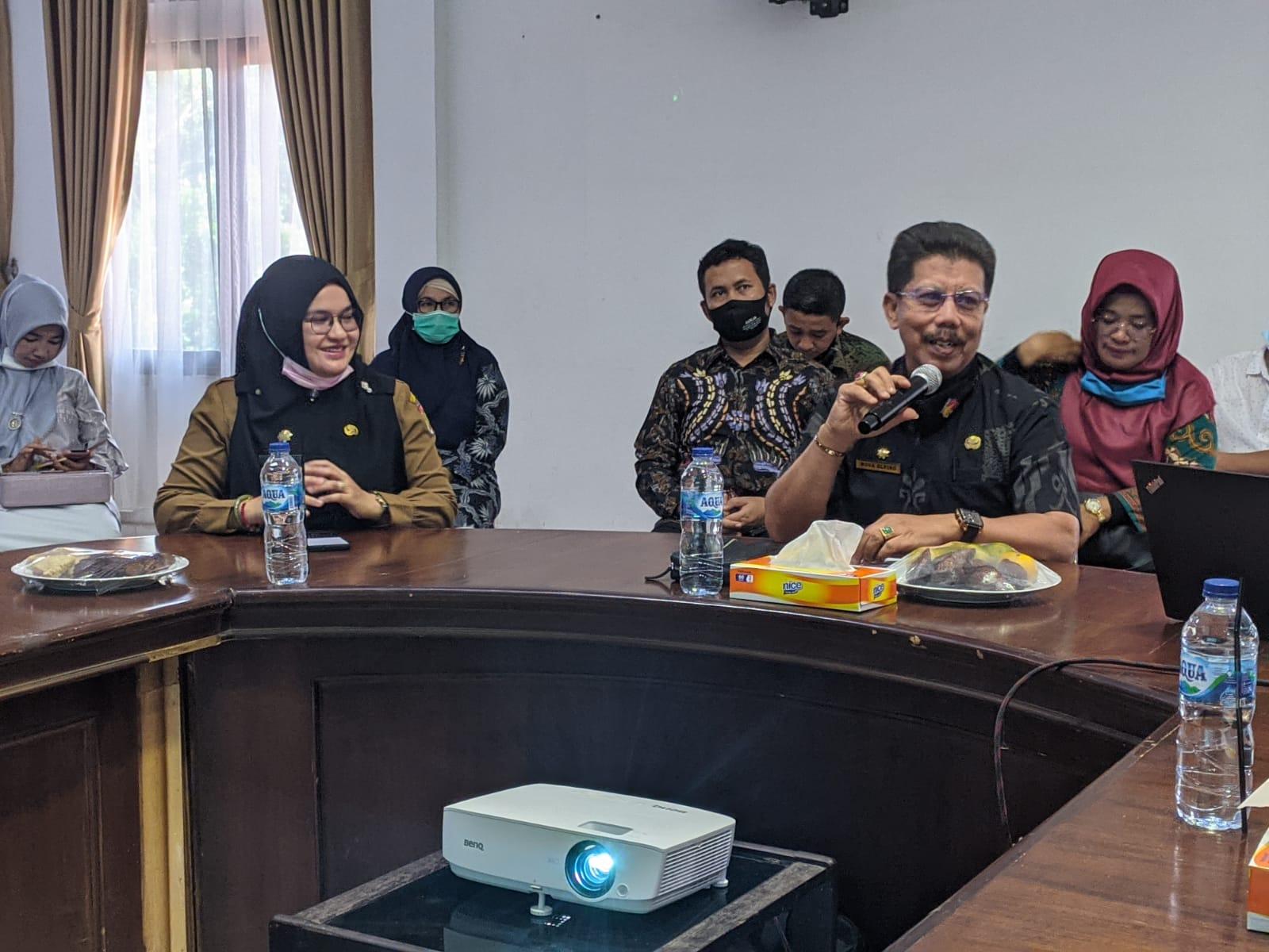 Kecamatan Rumbai Barat Terima Kunjungan Kerja Pemko Solok