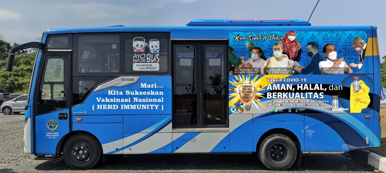 Bus Vaksinasi Keliling Telah Beroperasi di 14 Kecamatan