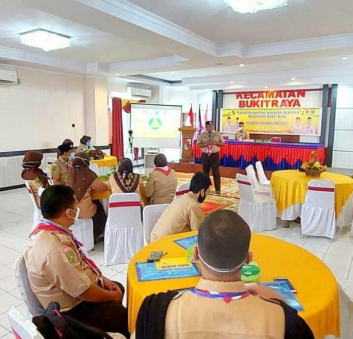 Kwaran Bukit Raya Taja Pelatihan Unit Pramuka Peduli
