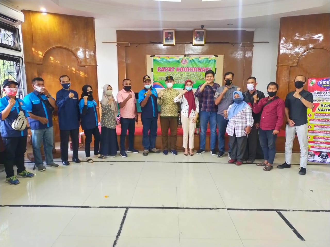 Karang Taruna Marpoyan Damai Rakor Perdana Tahun 2021