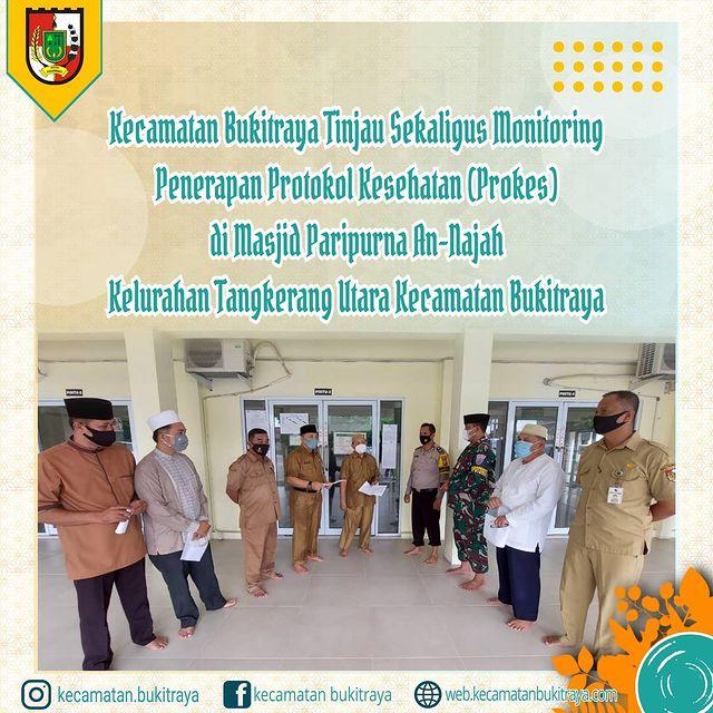 Satgas Kecamatan Bukit Raya Monitoring Prokes di Masjid Paripurna An-Najah