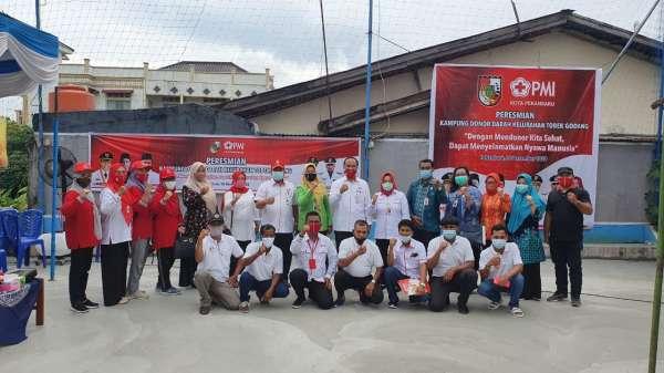 Tobek Godang Kampung Donor Darah Pertama di Pekanbaru