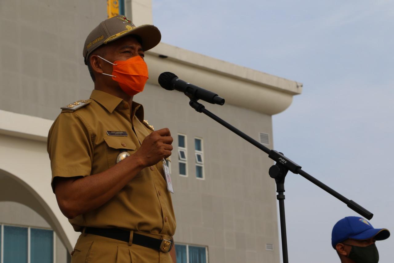 Wawako Pekanbaru Ingatkan Personel Satpol PP Tingkatkan Kedisiplinan
