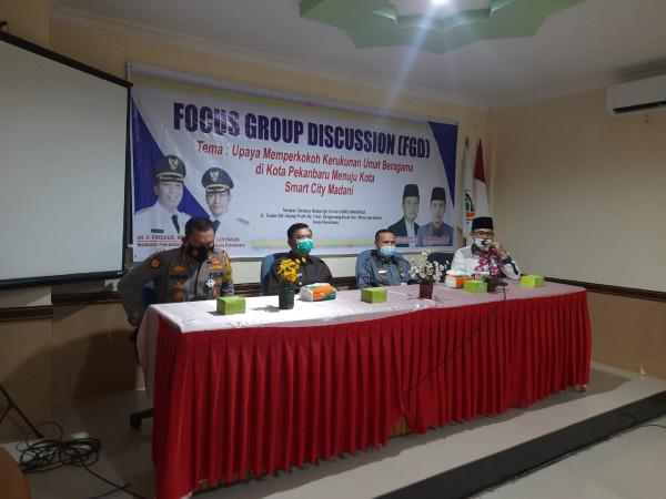 Wali Kota Diskusi dengan Tokoh Lintas Agama di Kota Pekanbaru