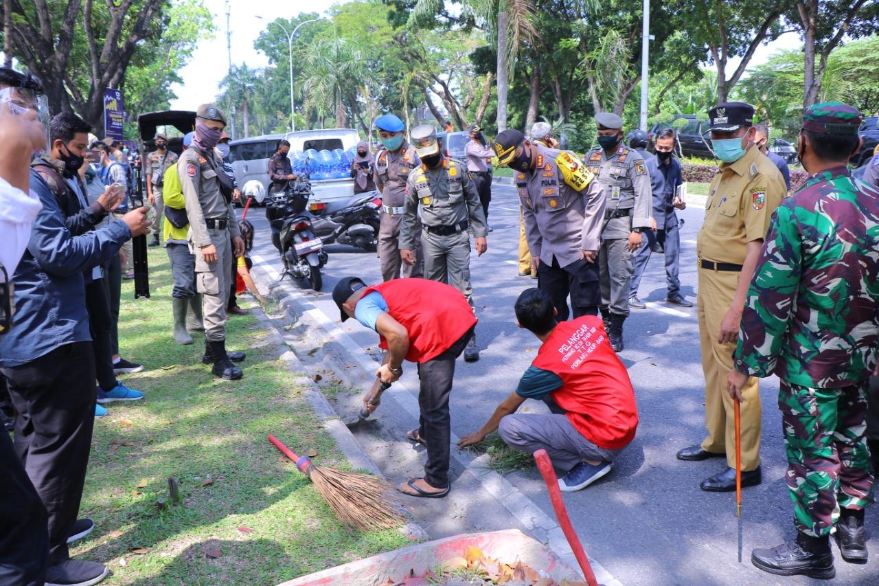 115 Warga Terjaring Razia Masker Hari Ini - Pekanbaru.go.id