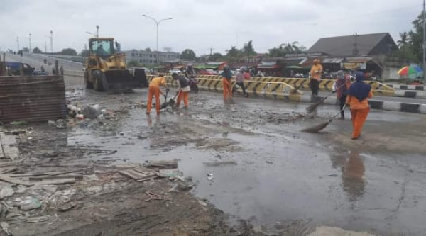 Pasar Pagi Arengka Sudah Steril dari Tumpukan Sampah
