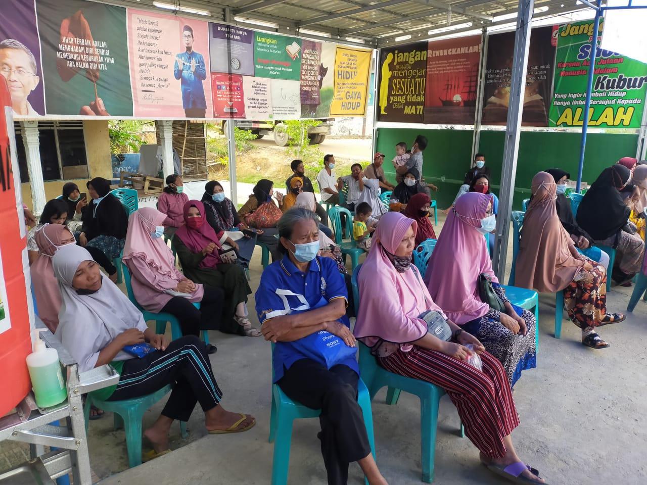 Ratusan Masyarakat Industri Tenayan Ikuti Vaksinasi di Masjid Al Anshor