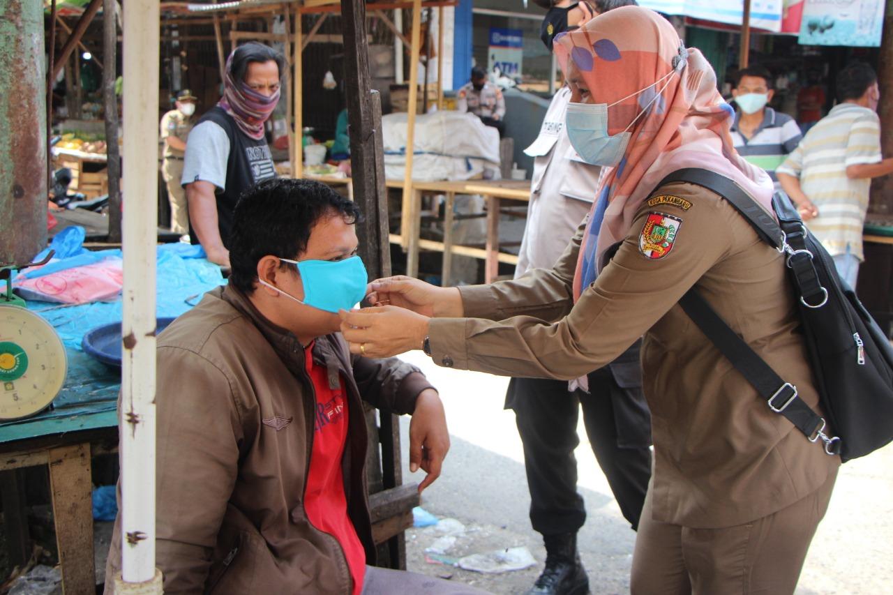 Razia Prokes di Pasar Bawah, Petugas Kembali Jaring Pelanggar