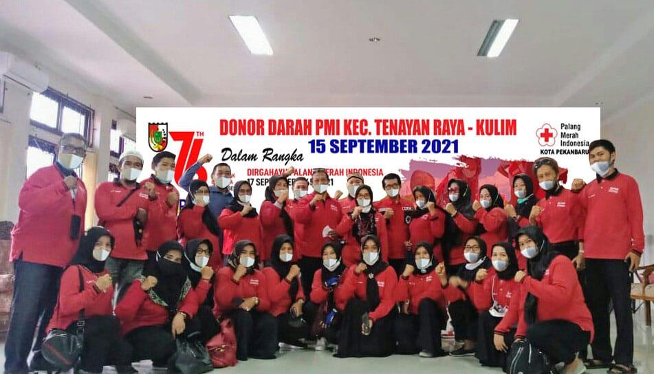108 Kantong Darah Terkumpul dari PMI Tenayan Raya-Kulim