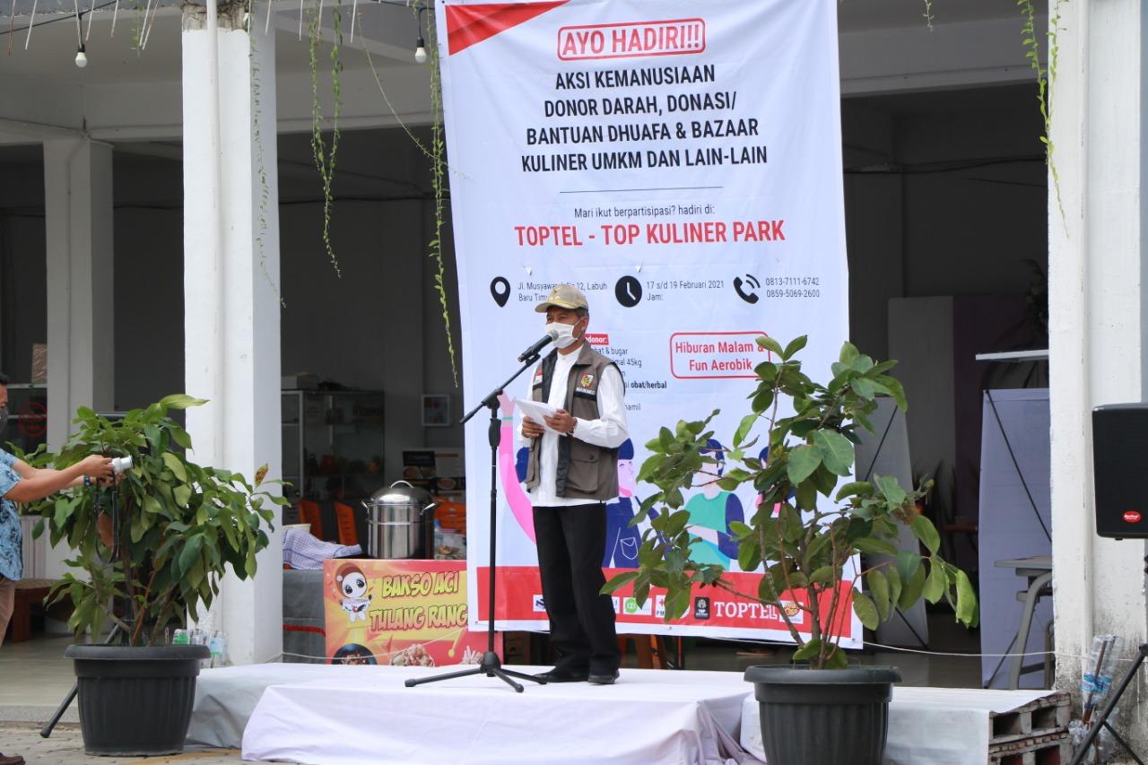 Wawako Apresiasi Bazar UMKM dan Donor Darah di Toptel Pekanbaru