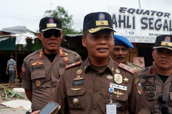 Image :  Satpol PP Pekanbaru Pastikan Siap Kawal Relokasi Pedagang ke STC