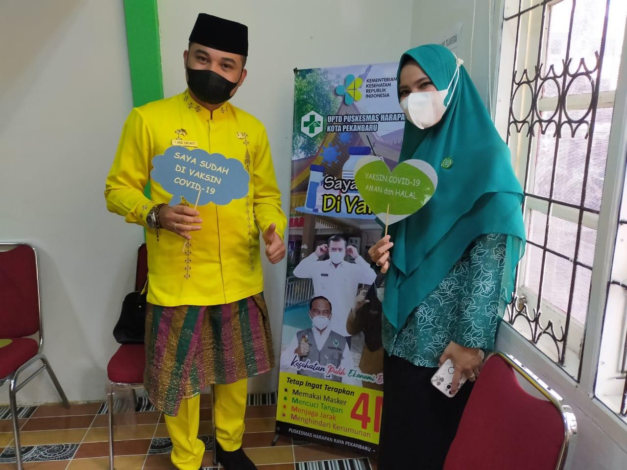 Dukung Upaya Pengendalian Covid-19, ASN Kecamatan Bukitraya Divaksin