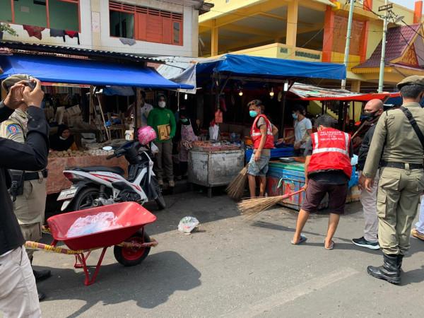 Image : 35 Pelanggar Prokes Terjaring Operasi Yustisi di Pasar Agus Salim