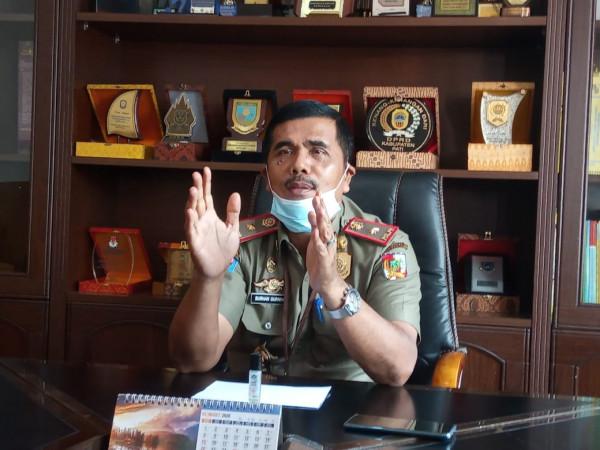 Image : Pengamanan Komplek Perkantoran Tenayan Raya Diperketat