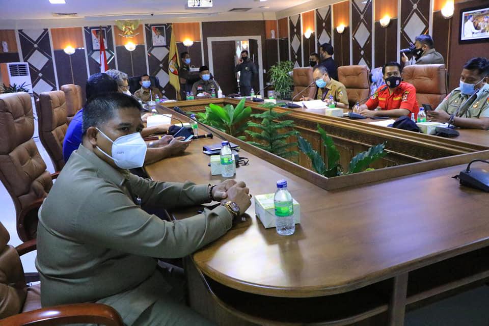Wali Kota Rakor Virtual Bersama Presiden RI Bahas Pencegahan dan Penangan Karhutla