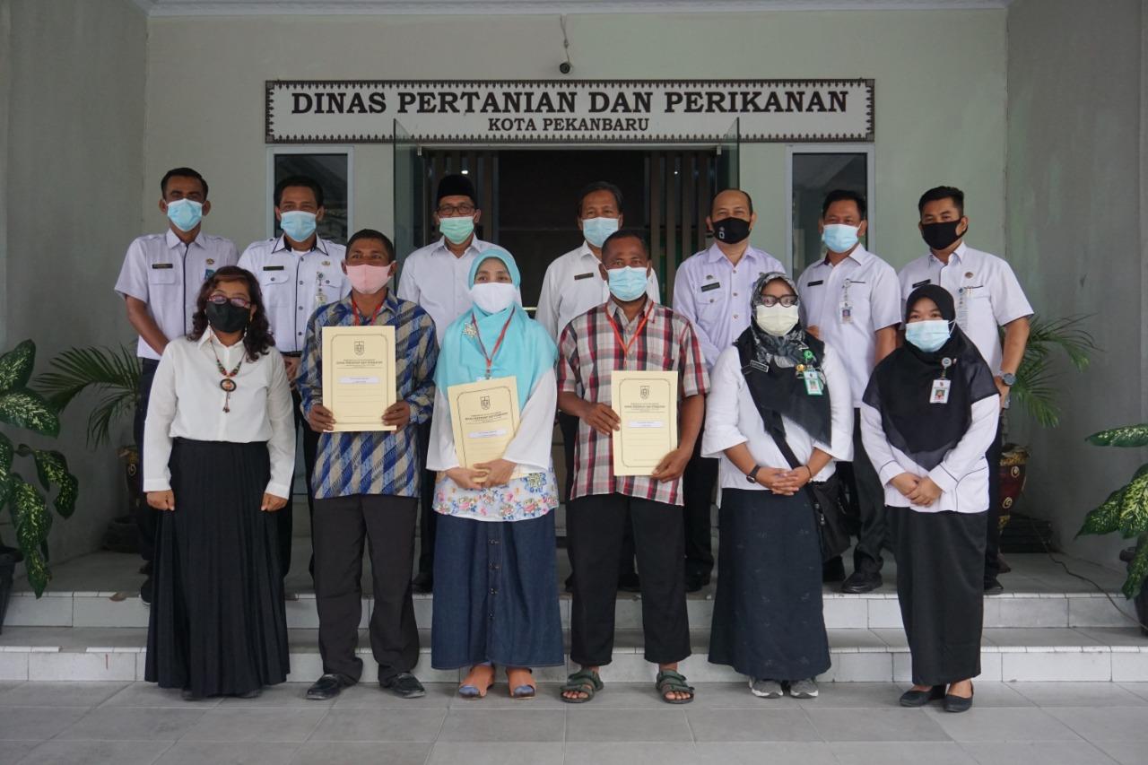 Image : Kelompok Ternak Binaan Distankan Terima Asuransi