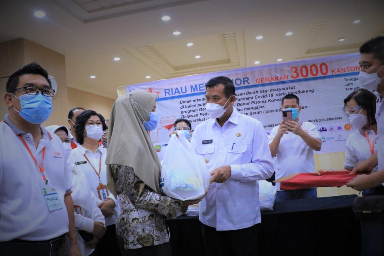Wali Kota Dampingi Wamenkes Tinjau Donor Darah Konvalesen
