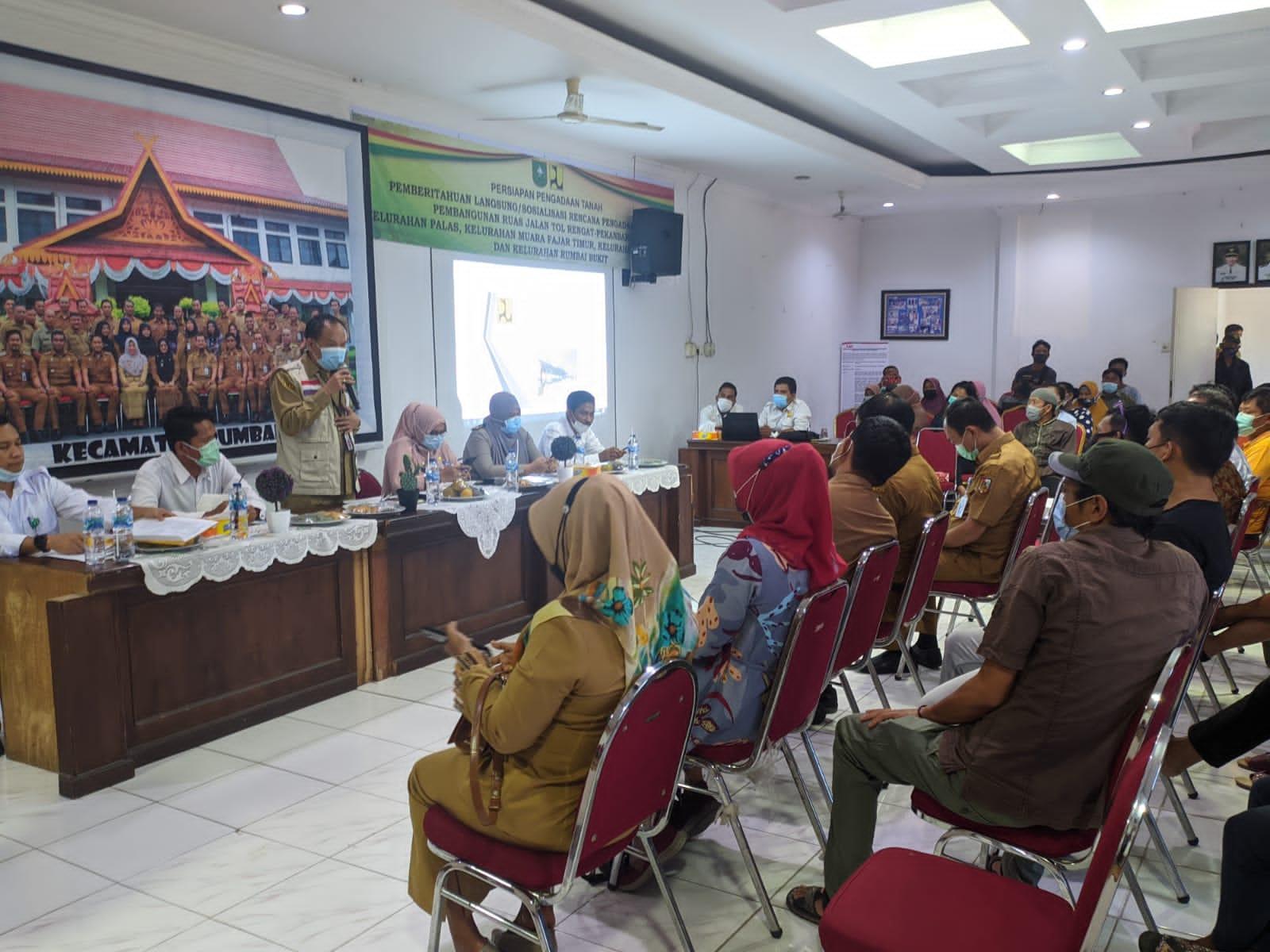 Image : Kecamatan Rumbai Barat Sosialisasikan Pembangunan Tol Pekanbaru-Rengat