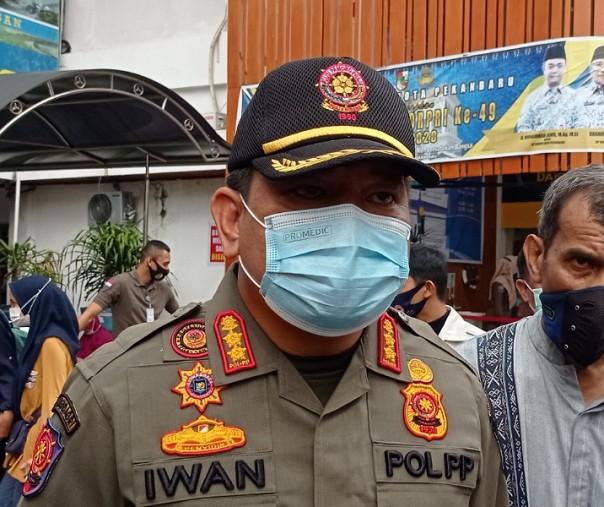 Image : Sasar Tempat Keramaian, Tim Yustisi Pekanbaru Intensifkan Operasi Penegakkan Prokes