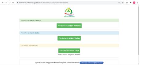 Pola Dan Cara Registrasi,  Daftar Vaksin Online Di Rumah Sakit Madani