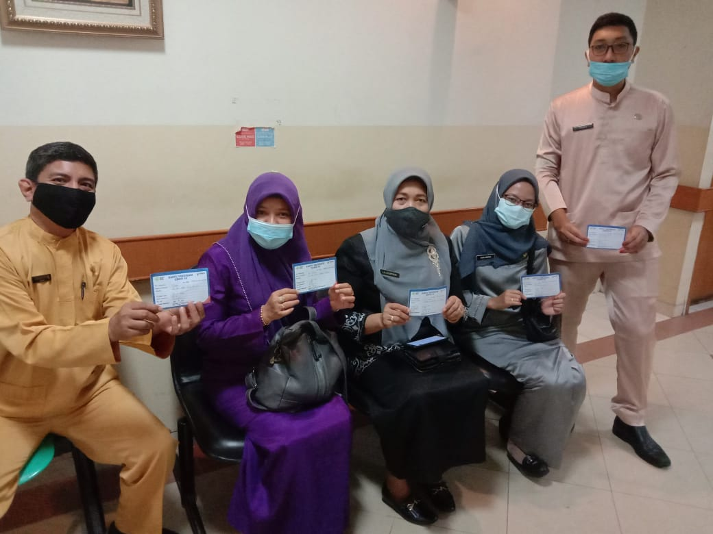 47 Pegawai Disnaker Jalani Vaksinasi Gelombang II