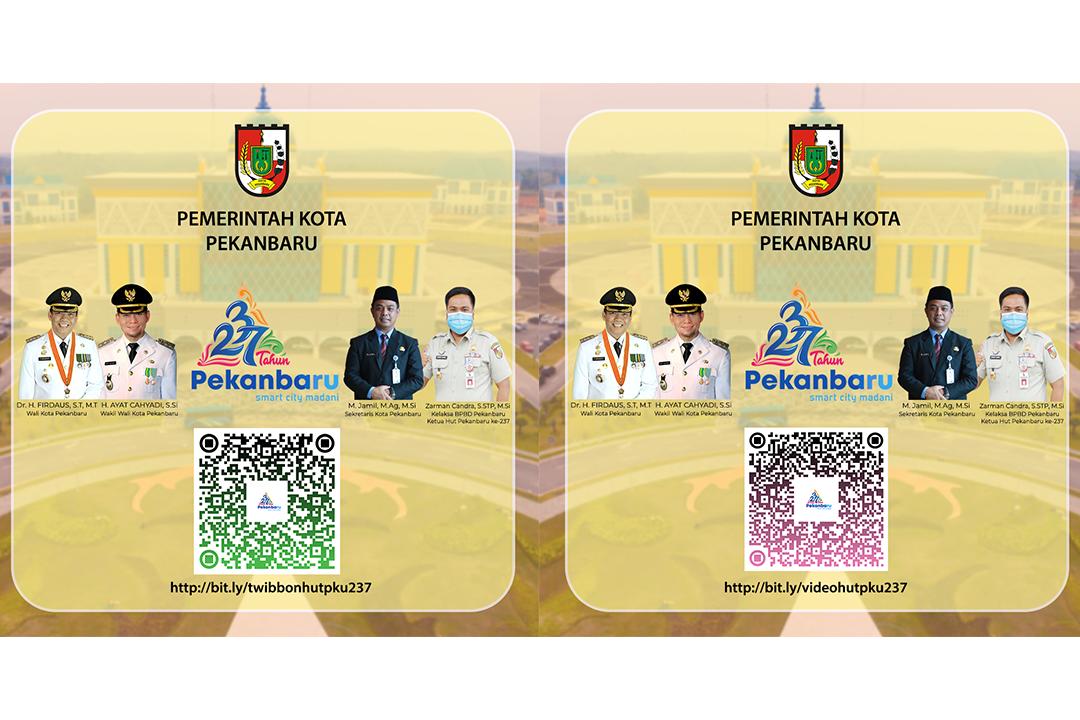 AYO IKUTI! Lomba Video Kreasi dan Desain Twibbon Hari Jadi Kota Pekanbaru ke-237