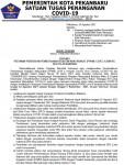 Image : SURAT EDARAN TENTANG PEDOMAN PPKM LEVEL IV DI PEKANBARU (19/SE/SATGAS/2021)